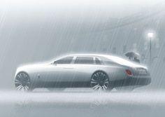 Rolls-Royce Phantom VIII Design Render Illustration