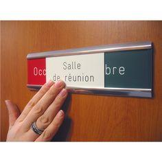 Plaque de porte ´occupé/libre´ gravée - Salle de réunion