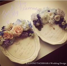ご両親へのギフト by AYANO TACHIHARA Wedding Design