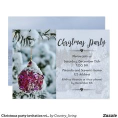 Christmas party invitation cards from winter wonderland