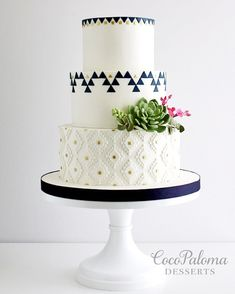 Featured Cake: Coco Paloma Desserts; www.cocopalomadesserts.com; Wedding cakes ideas.