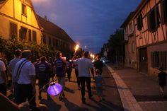 Wangen, 13 juillet 2015, bal populaire, retraite aux flambeaux et feu d'artifice!