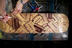 Mark Rivard Sharpie Cassete Tape Skateboard Deck