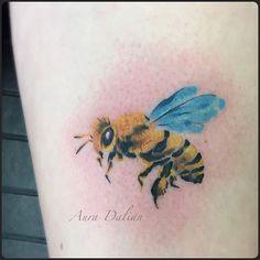 Still very angry little bee I did few days ago  #auradalian #tattoosbyaura #tattoos #bee  #wctattoos #watercolor #watercolour #watercolortattoo #watercolourtattoo #watercolortattooartist #color #colour #colortattoo #colourtattoo  #michigantattooartist #michigantattoo #Michigan #northmaintattoo #ink #tattoooftheday #tattoosofinstagram