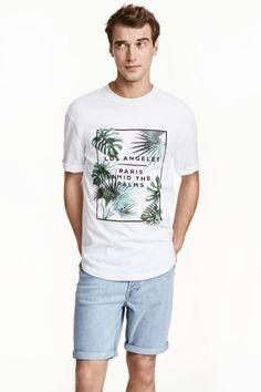 T-shirt oversize estampada