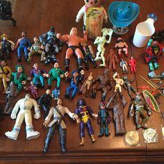 Vtg Junk Drawer Toy Lot Star wars Tmnt  Dick Tracy Darth Vader #allkinds