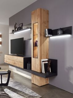 Stylish Bedroom Design Ideas With Tv Wall To Try Asap Wall Unit Designs, Living Room Tv Unit Designs, Tv Wall Design, House Design, Stylish Bedroom, Living Room Decor, Modern Design, Interior Design, Home Decor