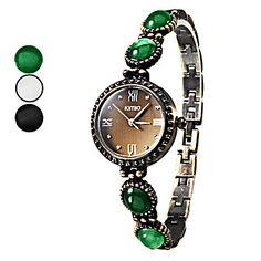 Women's Gem Band legering analoge Quarzt armband horloge (verschillende kleuren) – EUR € 16.55