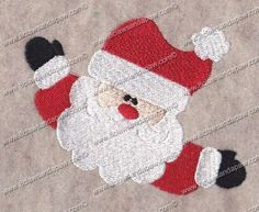 Santa Hugs Christmas Embroidery by 8clawsandapaw on Etsy, $1.95