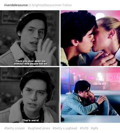 I saw this before watching Riverdale. I love how weird you are Jughead your hat is amazing, but so are the beautiful black locks under it go be weird with your lil Betty, she loves you Riverdale Quotes, Bughead Riverdale, Riverdale Archie, Riverdale Funny, Riverdale Betty And Jughead, Betty & Veronica, Lili Reinhart And Cole Sprouse, Film Anime, Look Rose