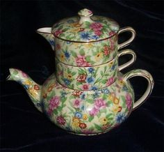 Royal Winton Kew CHINTZ STACKABLE TEAPOT by AbbeyRoadChintzChina, $549.00