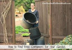 how to find free containers for you garden