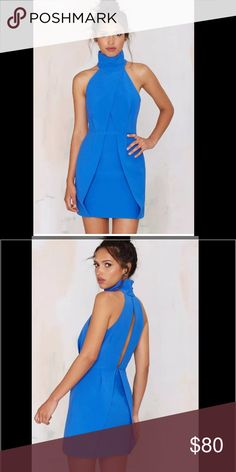 Blue dress New without tags: A brand-new, unused,  and unworn item. The original tags may not be attached. **nasty gal item refer to site for sizing guide**  NO Trades   NO Holds (whoever first come to buy unless note otherwise) Finders Keepers Dresses Mini