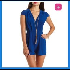 Charlotte Russe Romper+Free long necklace Please see picture 3 for detailed description as on the Forever21 website. Perfect for summer. Condition is excellent. I have worn it just once. Charlotte Russe Dresses