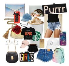 """""""03.07.17   i'm bored...🦋"""" by unofficialpeaches ❤ liked on Polyvore featuring Emily Rose Flower Crowns, WithChic, Rebecca Minkoff, Amici Accessories, Mudd, Chloé, Gucci, Boohoo and Charlotte Russe"""