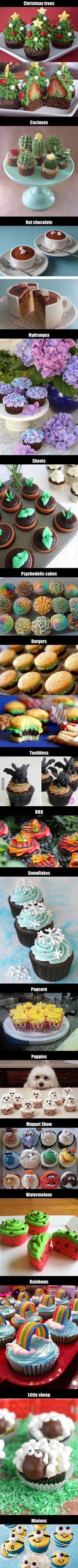 17 Incredible Cup Cake Ideas For Your Christmas Party - 9GAG