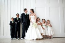 Cute picture of bride and groom with kids of the wedding party Style Me Pretty | Gallery | #7901 | Page #1