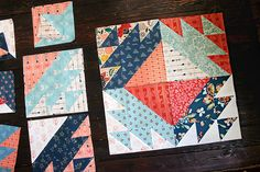 Diamond Weave Quilt block tutorial by Maureen Cracknell. 11 square block can be combined to make different sized quilts. I think it would look great as a mini-quilt in southwestern colors. Quilt Block Patterns, Pattern Blocks, Quilt Blocks, Quilting Tutorials, Quilting Projects, Southwestern Quilts, Southwest Style, Cute Quilts, Traditional Quilts