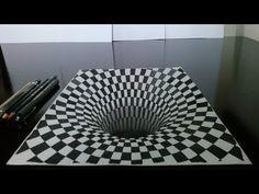 Como desenhar um Buraco em 3D (Drawing 3D Hole) - YouTube