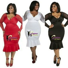 RAQUEL TRUMPTED DRESSES ( MODEL WEARING 2X )  SIZE :  1X  2X  3X  COLORS :  RED  WHITE  BLACK  BLACK SALE END @ MIDNIGHT  8TH YEAR ANNIVERSARY SALE ⭐NEW BEGINNINGS⭐  38% OFF SELECTED ITEMS  USE CODE : 8YEARS ✔✔ITEMS LISTED UNDER NEW ARRIVALS ,CINCHER & CLEARANCE  ARE NOT INCLUDED ✔✔ CODE MUST BE USED  AT CHECKOUT/ NO PRICE ADJUSTMENT ❌❌ALL SALES ARE FINAL NO RETURN / EXCHANGE❌❌ WWW.CURVACEOUSBOUTIQUE.COM & IN STORE