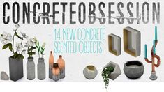 Concrete Obsession set at THINGSBYDEAN via Sims 4 Updates  Check more at http://sims4updates.net/objects/decor/concrete-obsession-set-at-thingsbydean/