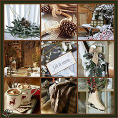 The collages make me so happy ☺️ Christmas Collage, Christmas Mood, Merry Little Christmas, Noel Christmas, Primitive Christmas, Country Christmas, All Things Christmas, Christmas Scenery, I Love Winter
