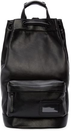 Juun.J Black Leather Backpack