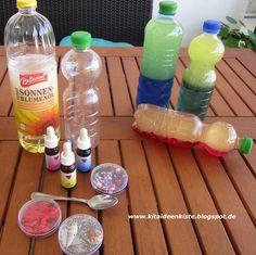 Discovery und Sensorik - Flaschen Diese Sinnesflaschen gewinnen immer mehr an Beliebtheit in der Kita, aber auch zum Entdecken zu Hause. ...