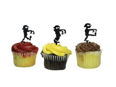 Zombie Cupcake Toppers by JourneyProductions on Etsy