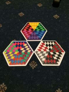 Hama beads hexagon 2