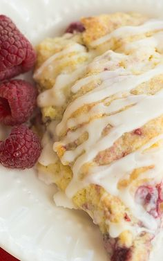Meyer Lemon and Raspberry Scones (except I would use strawberries instead of raspberries! )