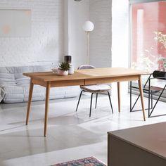 Jonàk Teak Dining Room Table 180x80 Slab Table, Teak Dining Table, Solid Oak Table, Solid Wood, Table Teck, Light Colored Wood, Kiln Dried Wood, Wood Pieces, Vintage Furniture