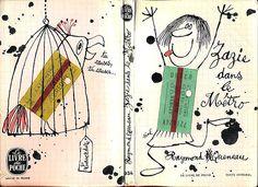 Couverture par Siné – Zazie dans le Métro par Raymond Queneau (1965) – Édition Livre de Poche