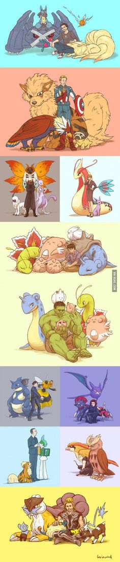 If the avengers were pokemwzyysq non trainers
