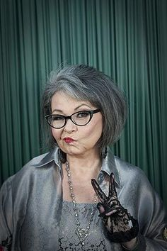 Comedian Roseanne Barr poses for photos before her roast by Comedy Central at the Palladium in Hollywood by Allen Schaben