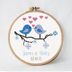 Cross stitch pattern bride and groom Modern от AnimalsCrossStitch