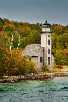 Grand Island Lighthouse by RandyNyhofPhotos on Etsy, $35.00