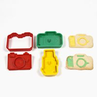 From photojojo.com......they are cameras....wait...they are cookies SHAPED like cameras!! even better.