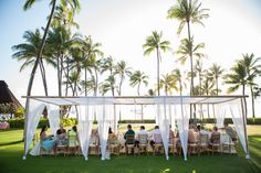 View of the Dining Canopy from the outside at Lanikuhonua
