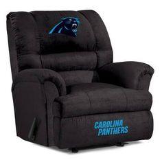 Big Daddy Microfiber Recliner - Carolina Panthers