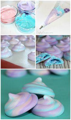 Unicorn Poop Meringue Cookies