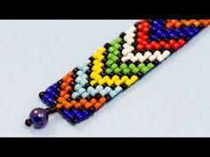 African Motif Bead Loom Bracelet