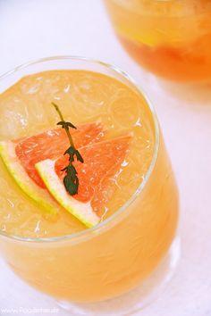 Rose Passion ein erfrischender Traum mit Pink Grapefruit, Thymian und Lillet