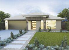Home Designs & Floor Plans - Single & Double Storey 4 Bedroom House Plans, Dream House Plans, Modern House Plans, Hallmark Homes, Home Design Floor Plans, Exterior House Colors, Modern Exterior, Bungalow, House Design
