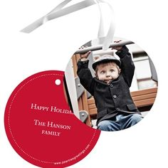 Round and Round - Christmas Gift Tags. Round and round these photo Christmas gift tags go, where they stop - we definitely know! They'll be in the hands of family and friends as they eagerly open their gifts. With a favorite picture and circular style, the anticipation for the gift inside builds that much more!. Price: $26.56