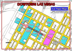 Downtown Fremont street hotels map | Vegas Vacation ...