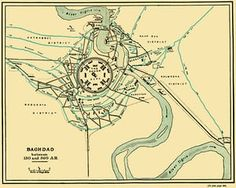Illustration of Baghdad between 767 and 912.