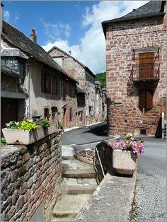 Rue Basse, Villecomtal, Midi-Pyrenees, France.