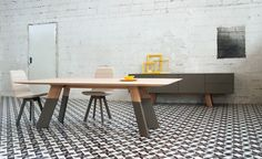 Dining Table Solid Oak And Cement