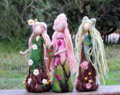 Needle felted fairy Art doll Fantasy doll Fairy by Made4uByMagic